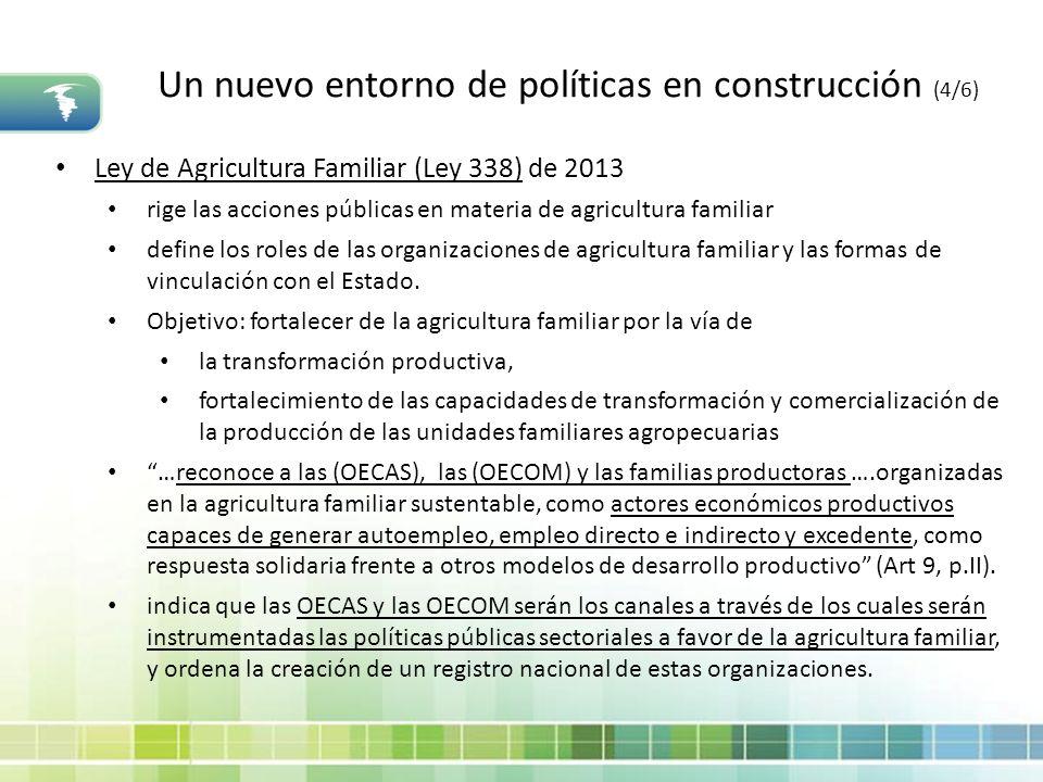 Un nuevo entorno de políticas en construcción (4/6)