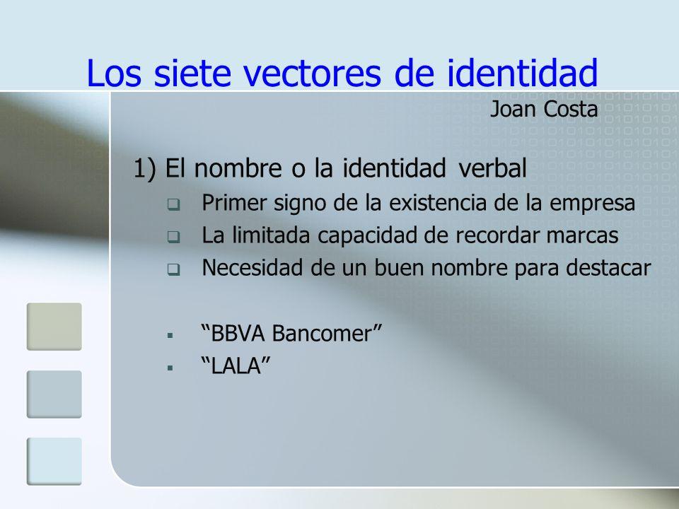 Los siete vectores de identidad Joan Costa