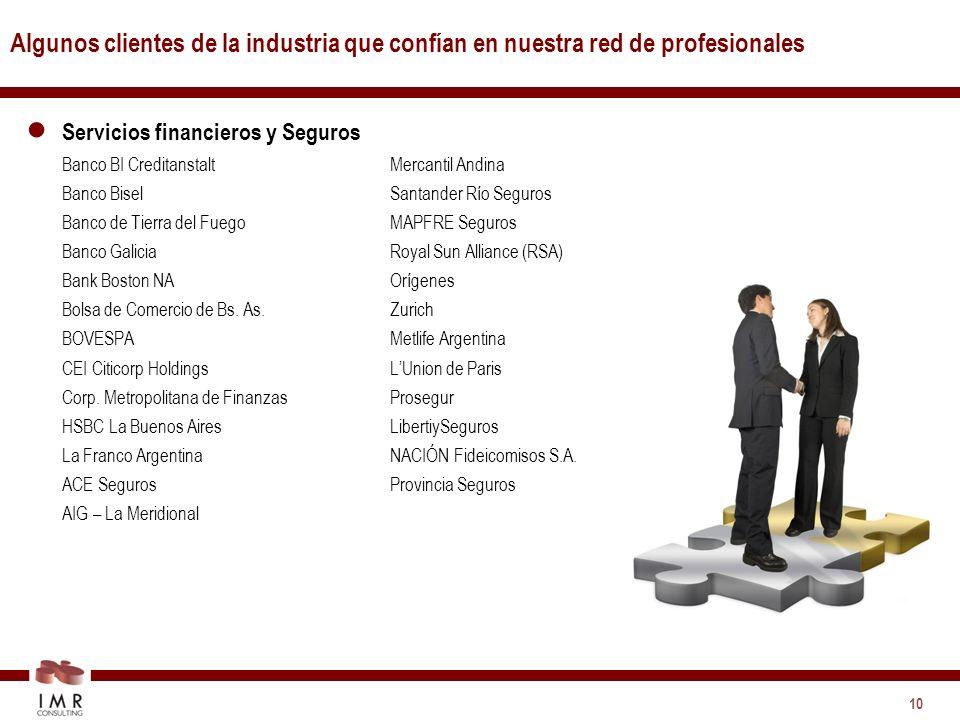 Algunos clientes de la industria que confían en nuestra red de profesionales