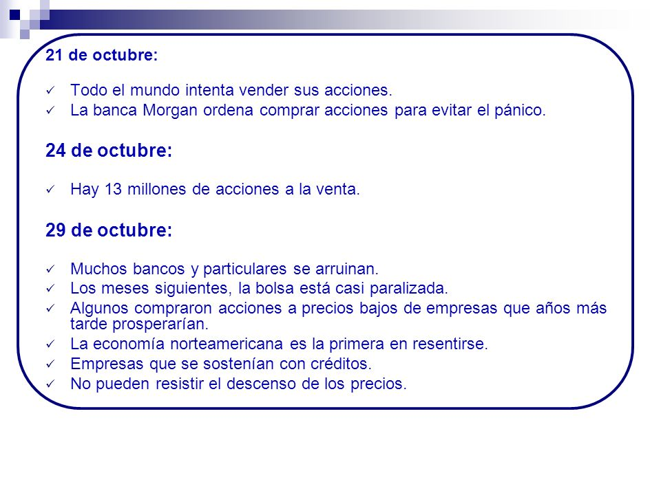 24 de octubre: 29 de octubre: 21 de octubre: