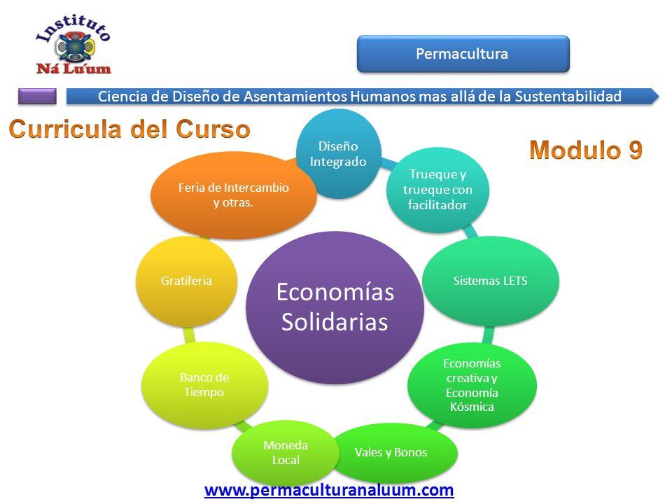Economías Solidarias Curricula del Curso Modulo 9