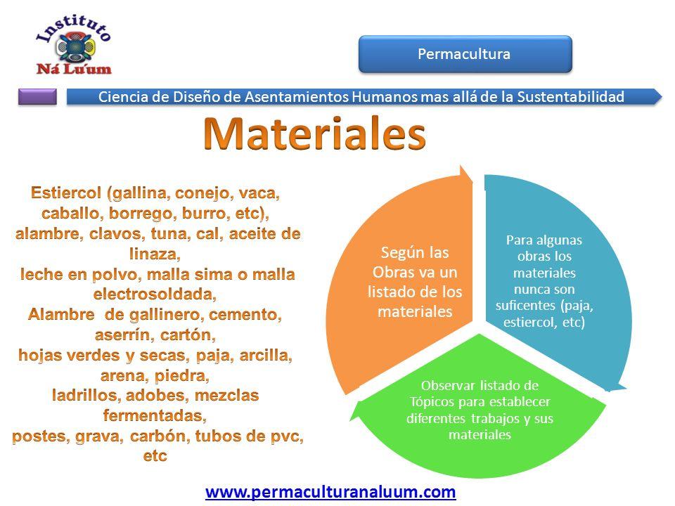 Materiales www.permaculturanaluum.com