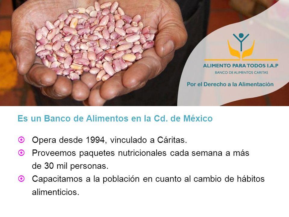 Es un Banco de Alimentos en la Cd. de México