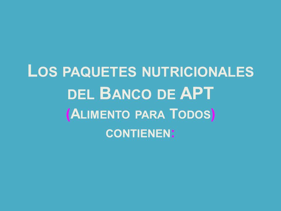 Los paquetes nutricionales