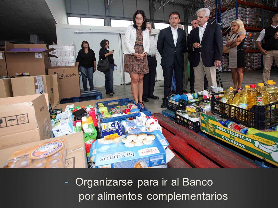 Organizarse para ir al Banco por alimentos complementarios