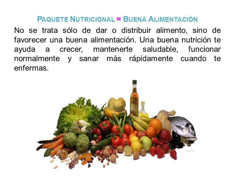 Paquete Nutricional = Buena Alimentación