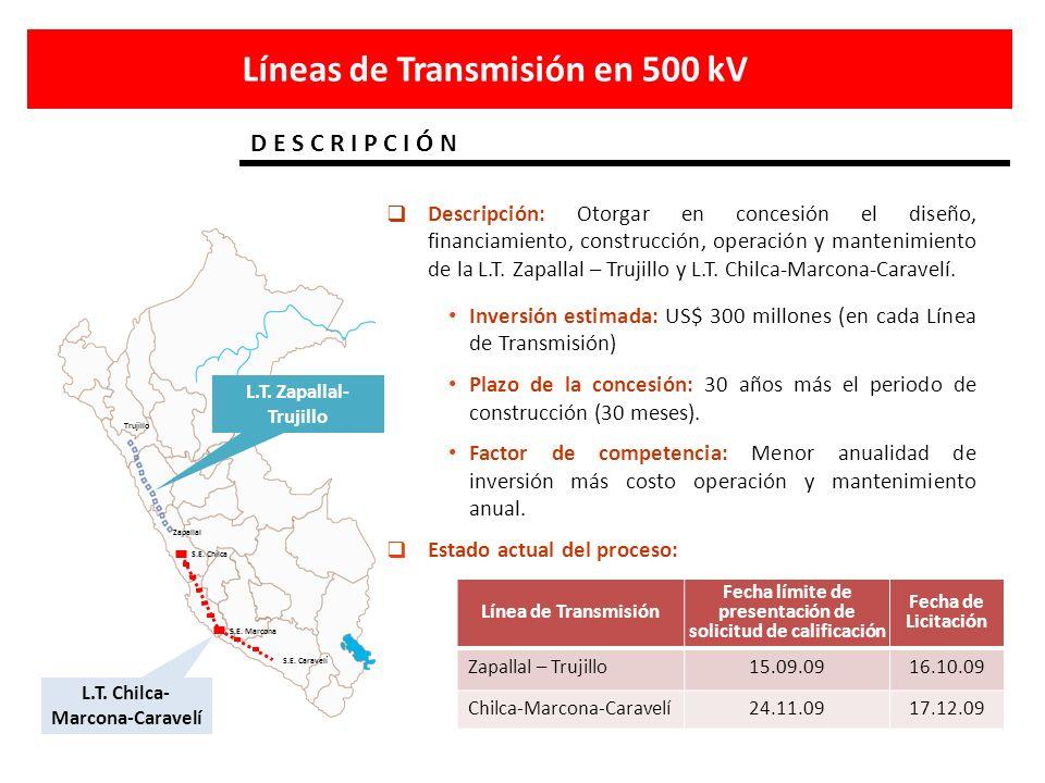 Líneas de Transmisión en 500 kV