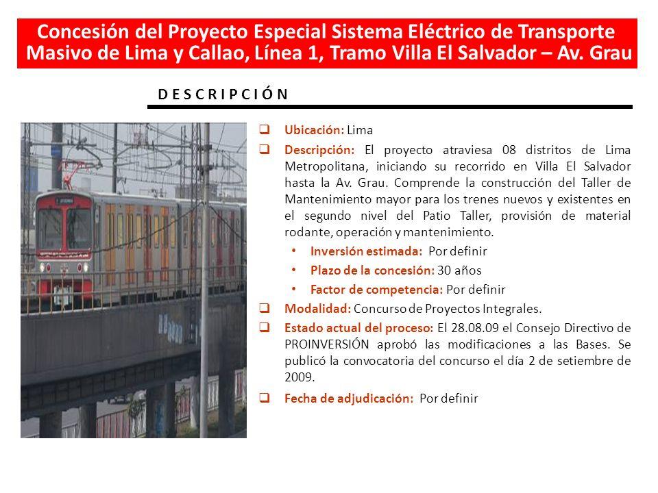 Concesión del Proyecto Especial Sistema Eléctrico de Transporte