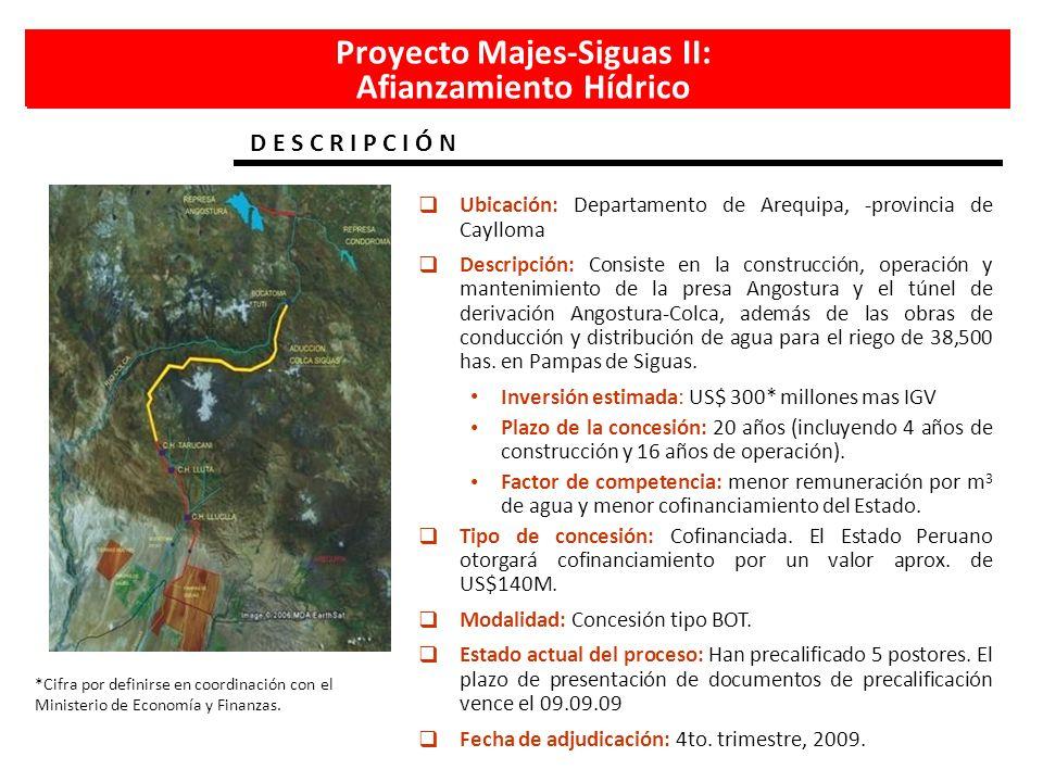 Proyecto Majes-Siguas II: Afianzamiento Hídrico
