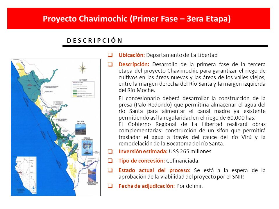 Proyecto Chavimochic (Primer Fase – 3era Etapa)
