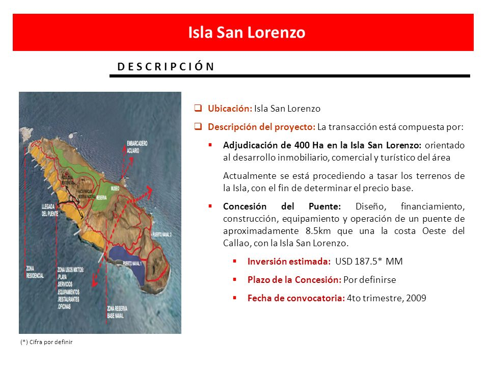 Isla San Lorenzo D E S C R I P C I Ó N Ubicación: Isla San Lorenzo