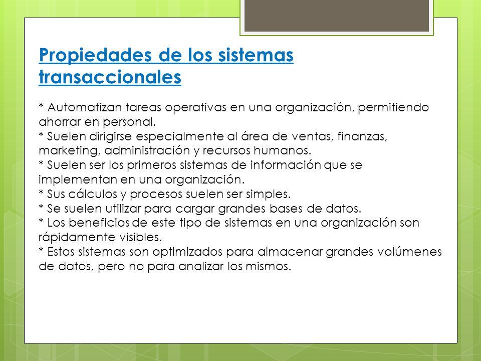 Propiedades de los sistemas transaccionales