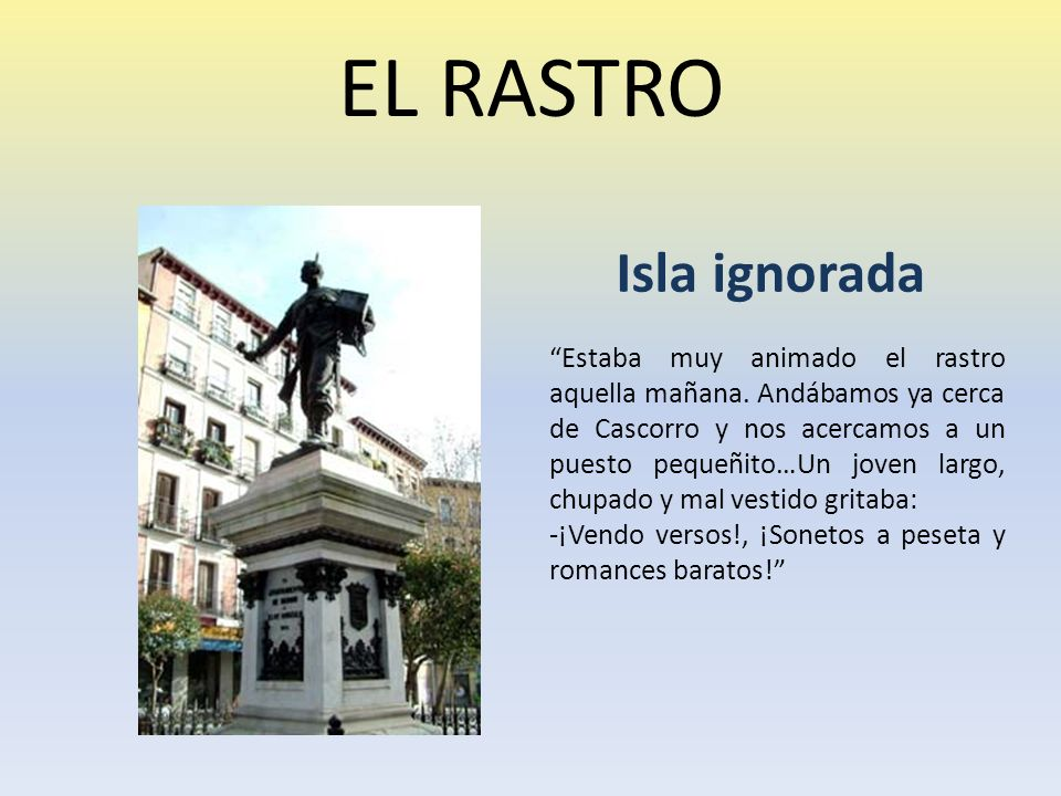 EL RASTRO Isla ignorada