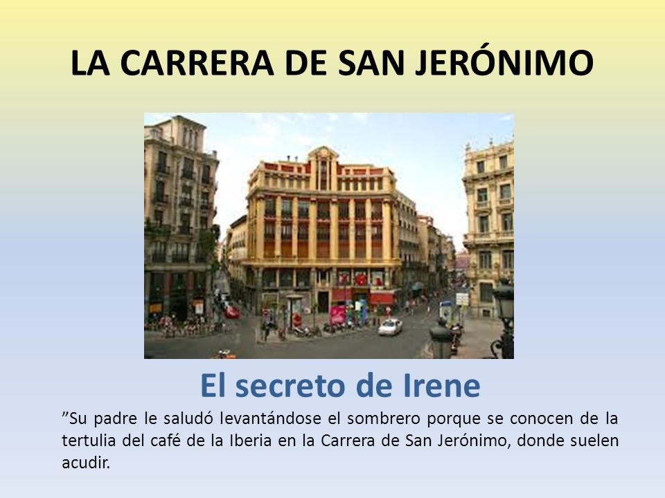 LA CARRERA DE SAN JERÓNIMO