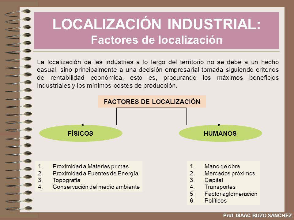 LOCALIZACIÓN INDUSTRIAL: Factores de localización