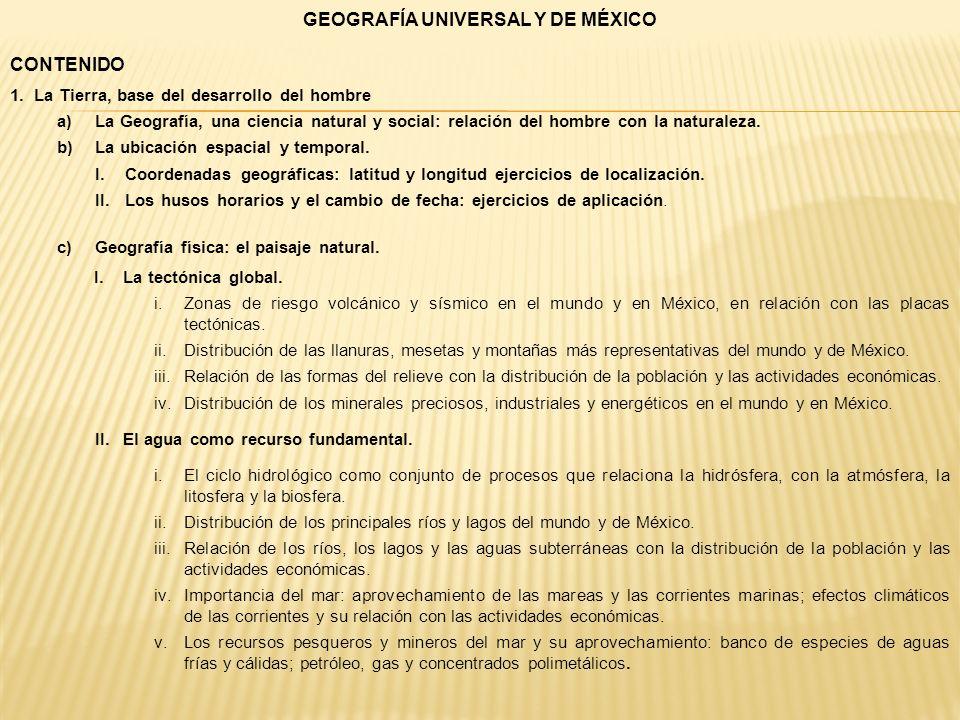 GEOGRAFÍA UNIVERSAL Y DE MÉXICO