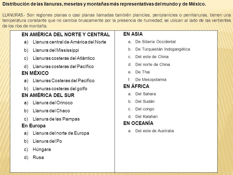 EN AMÉRICA DEL NORTE Y CENTRAL