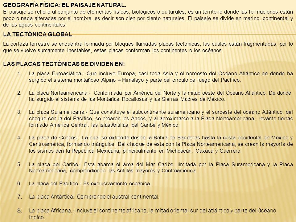 GEOGRAFÍA FÍSICA: EL PAISAJE NATURAL.