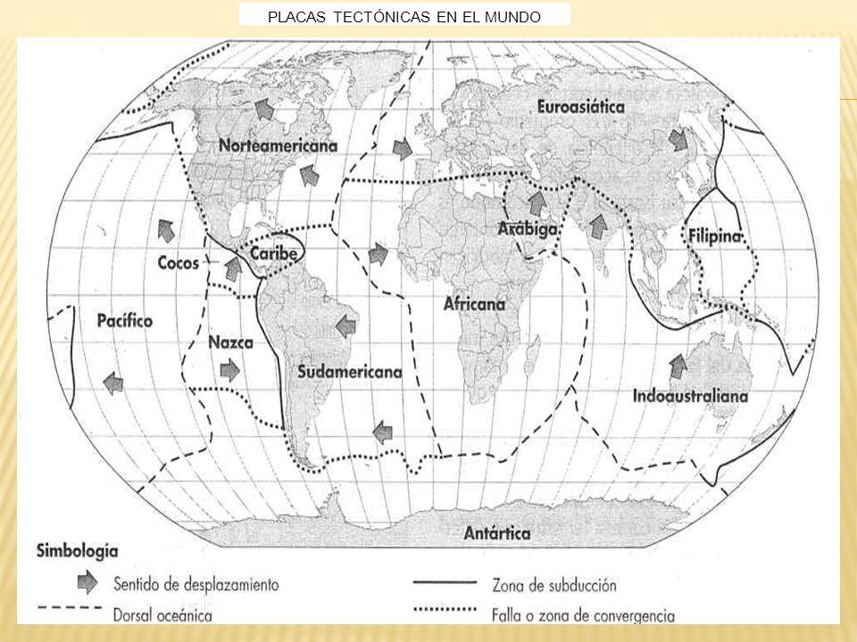 PLACAS TECTÓNICAS EN EL MUNDO