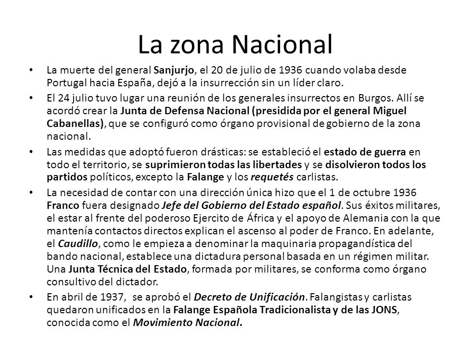 La zona Nacional