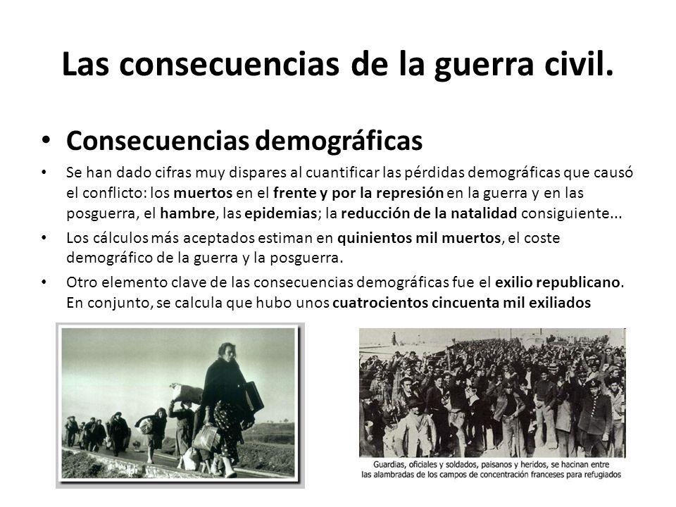 Las consecuencias de la guerra civil.