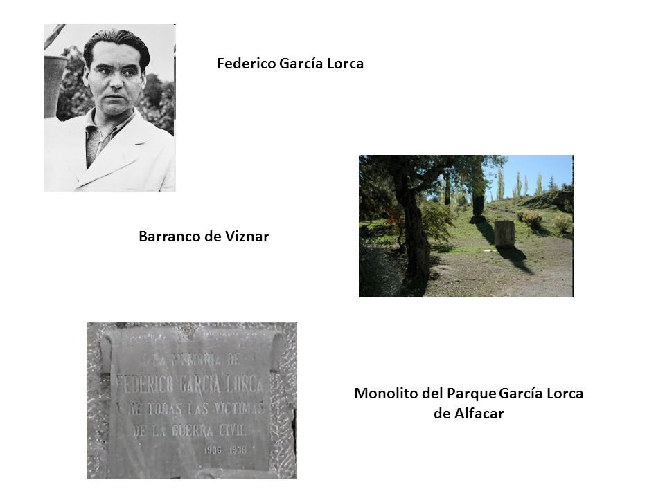 Monolito del Parque García Lorca de Alfacar