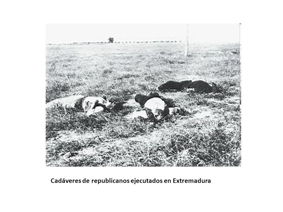 Cadáveres de republicanos ejecutados en Extremadura