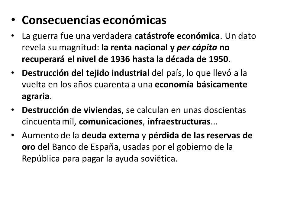 Consecuencias económicas
