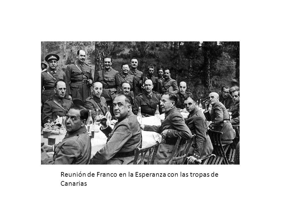 Reunión de Franco en la Esperanza con las tropas de Canarias