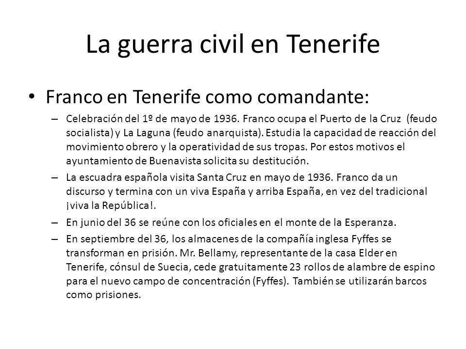 La guerra civil en Tenerife