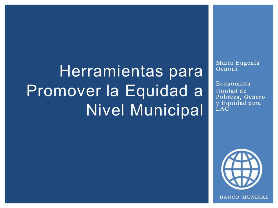 Herramientas para Promover la Equidad a Nivel Municipal