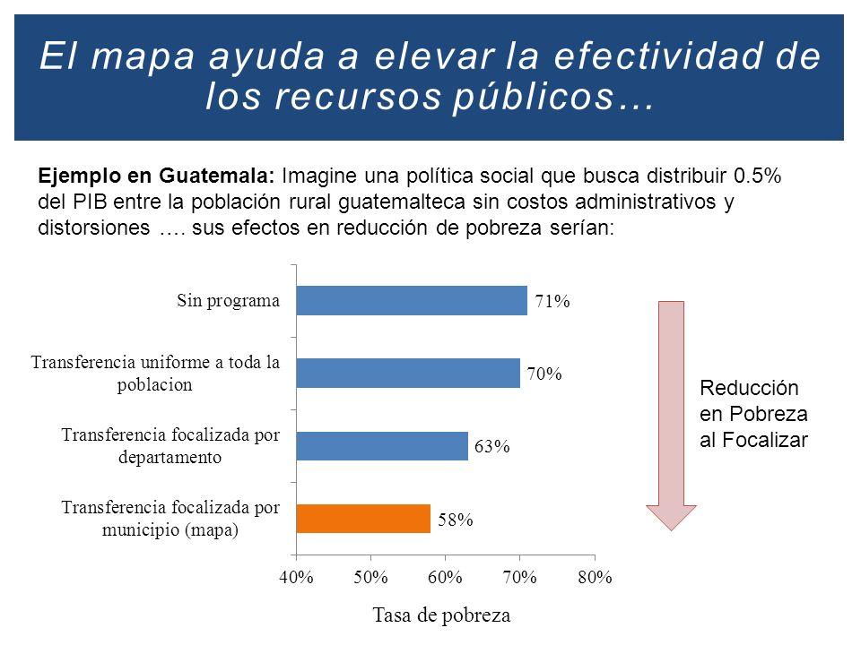 El mapa ayuda a elevar la efectividad de los recursos públicos…