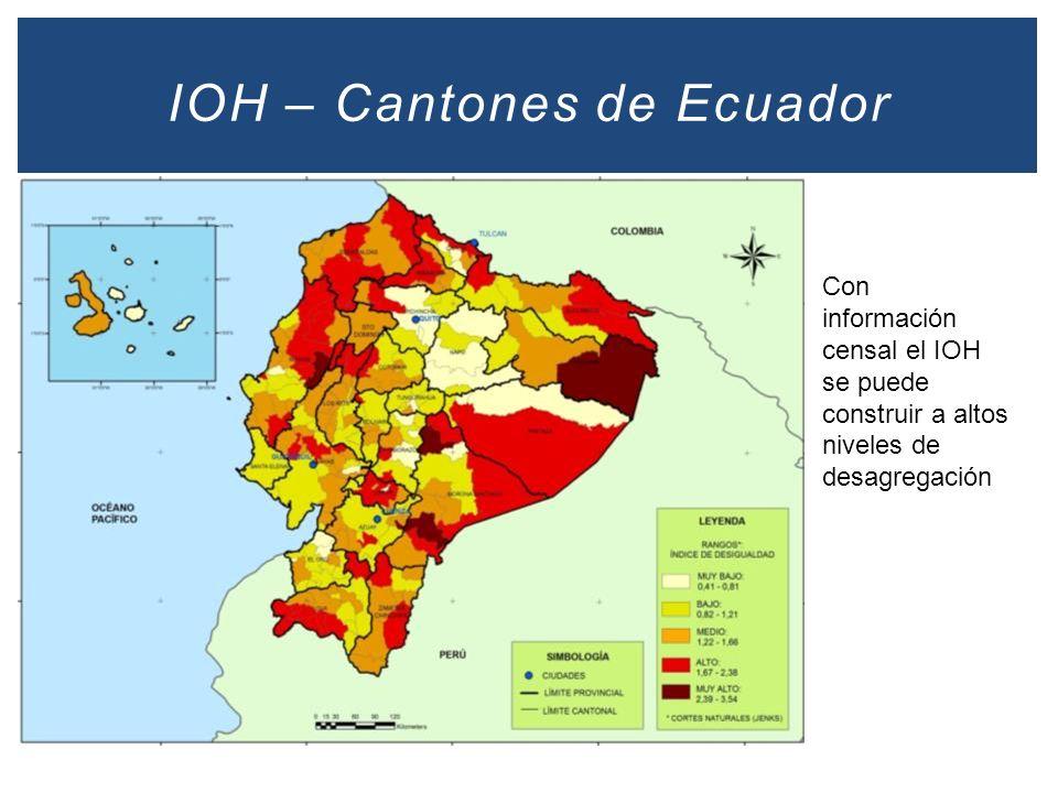 IOH – Cantones de Ecuador