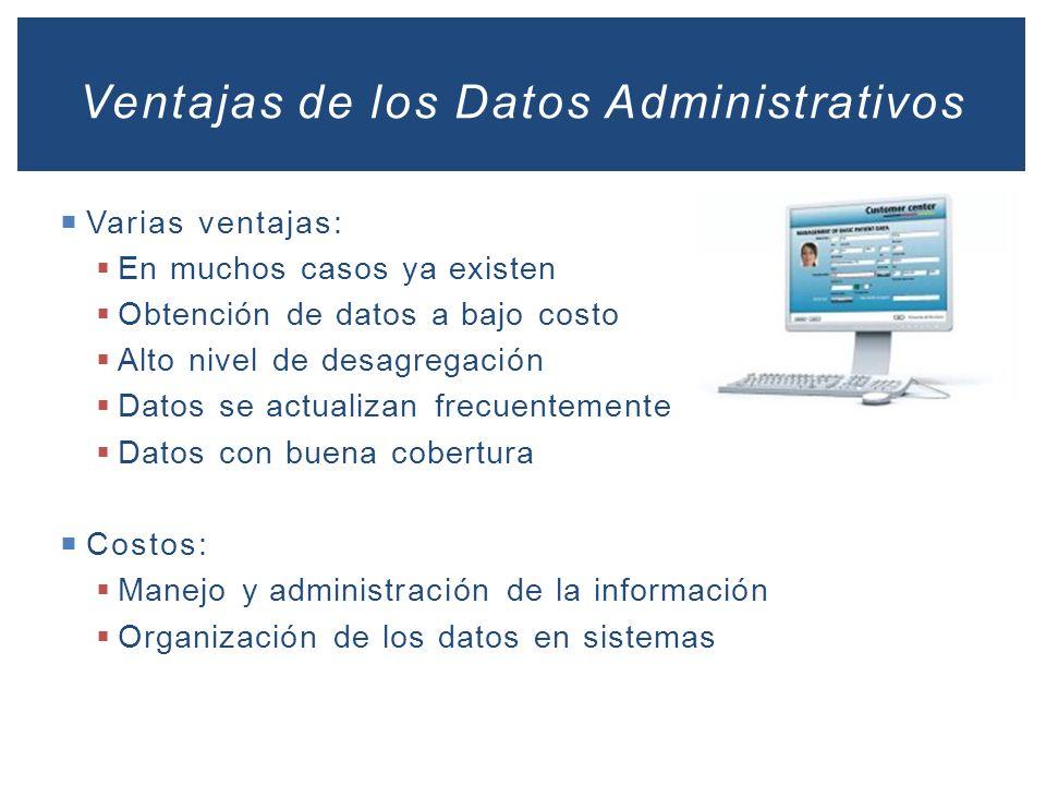 Ventajas de los Datos Administrativos