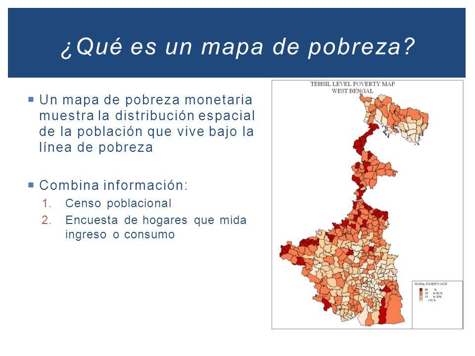 ¿Qué es un mapa de pobreza