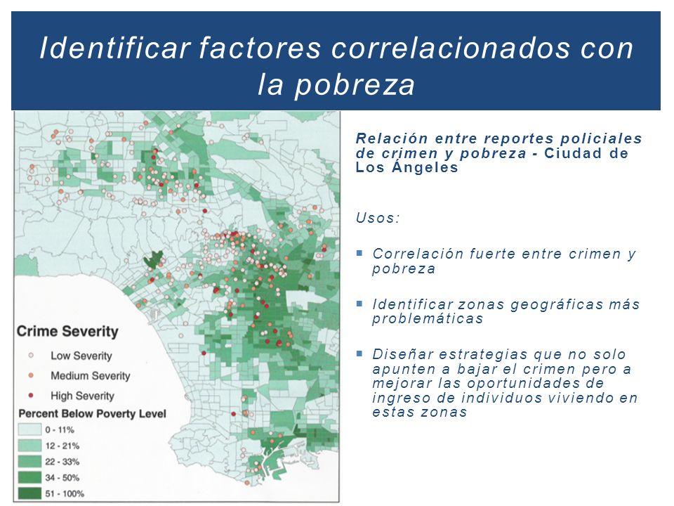 Identificar factores correlacionados con la pobreza