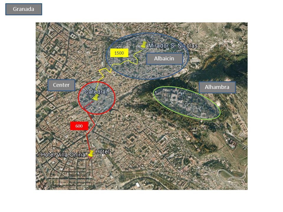 Granada 1500 Albaicin Center Alhambra 600