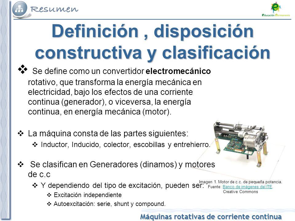 Definición , disposición constructiva y clasificación