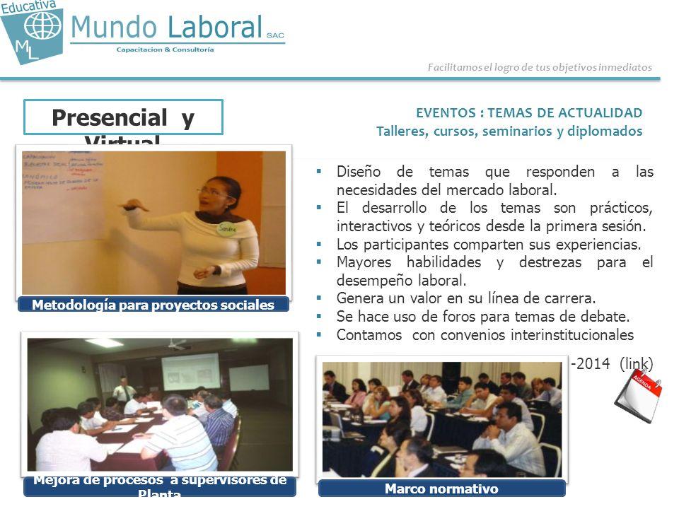 Presencial y Virtual EVENTOS : TEMAS DE ACTUALIDAD