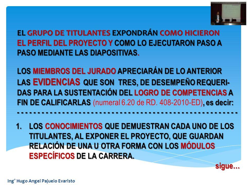 EL GRUPO DE TITULANTES EXPONDRÁN COMO HICIERON