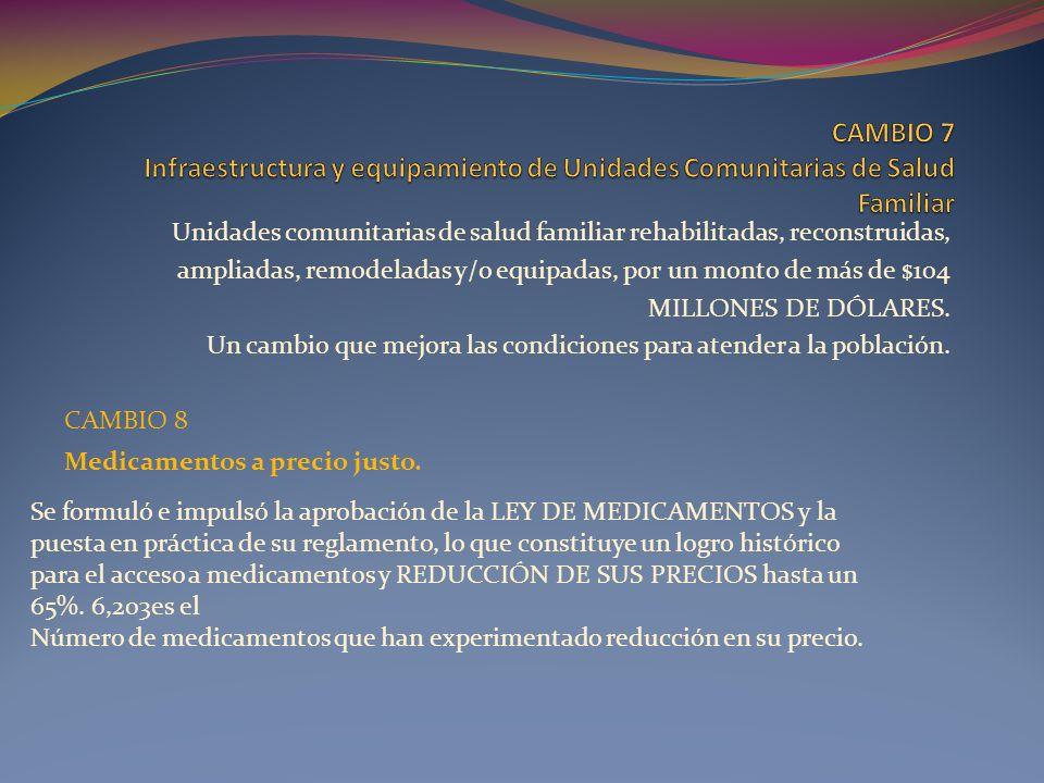 CAMBIO 7 Infraestructura y equipamiento de Unidades Comunitarias de Salud Familiar
