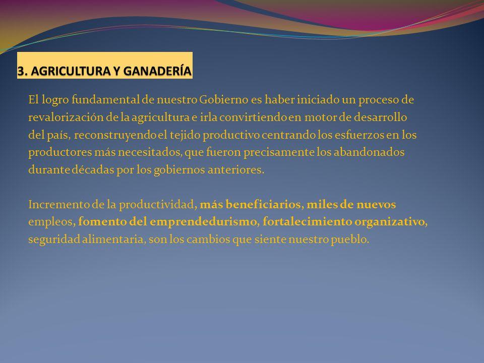 3. AGRICULTURA Y GANADERÍA