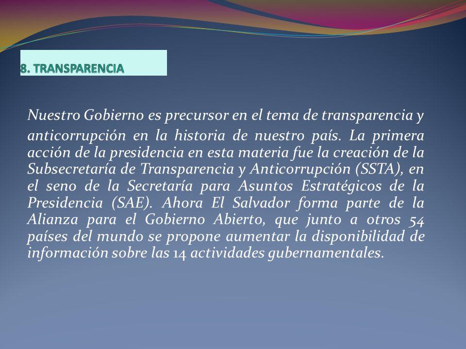Nuestro Gobierno es precursor en el tema de transparencia y