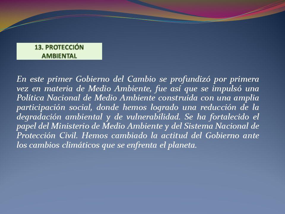 13. PROTECCIÓN AMBIENTAL
