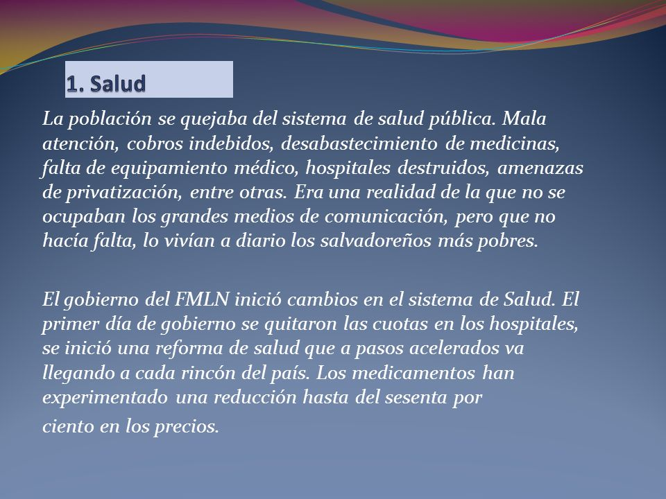 1. Salud