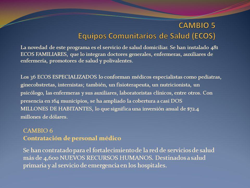 CAMBIO 5 Equipos Comunitarios de Salud (ECOS)