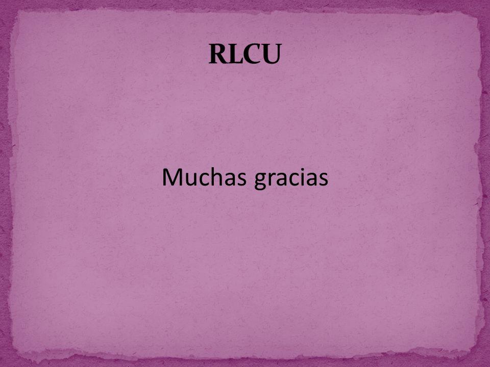 RLCU Muchas gracias