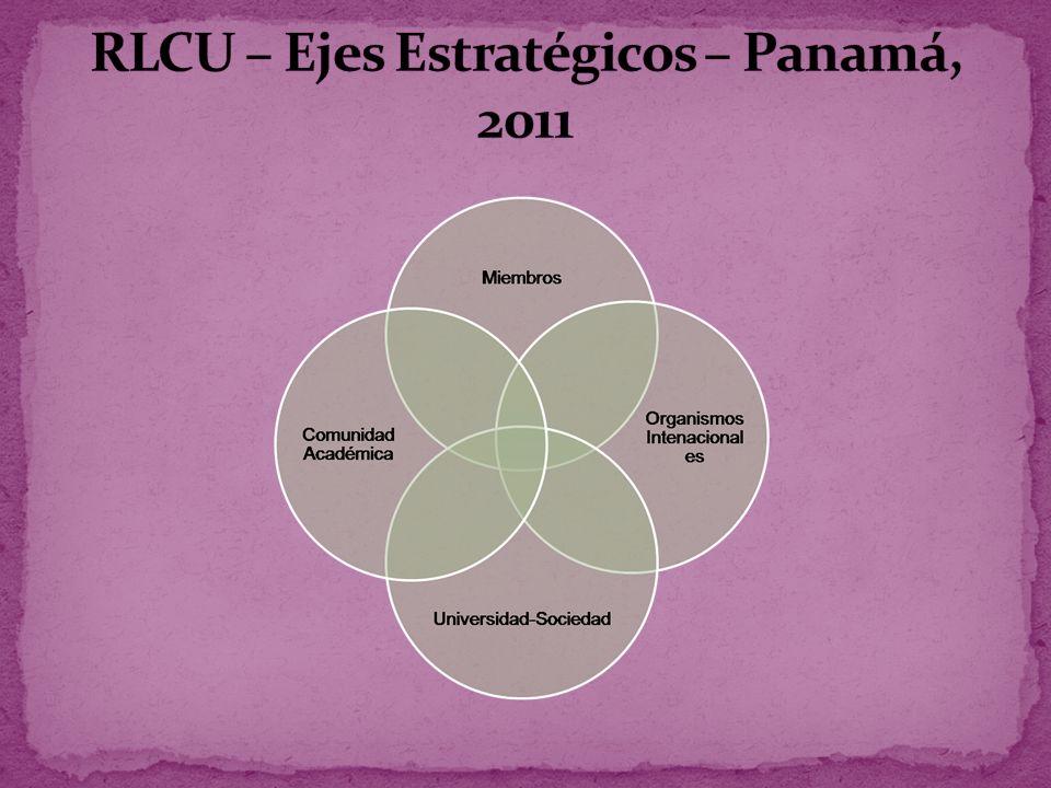 RLCU – Ejes Estratégicos – Panamá, 2011