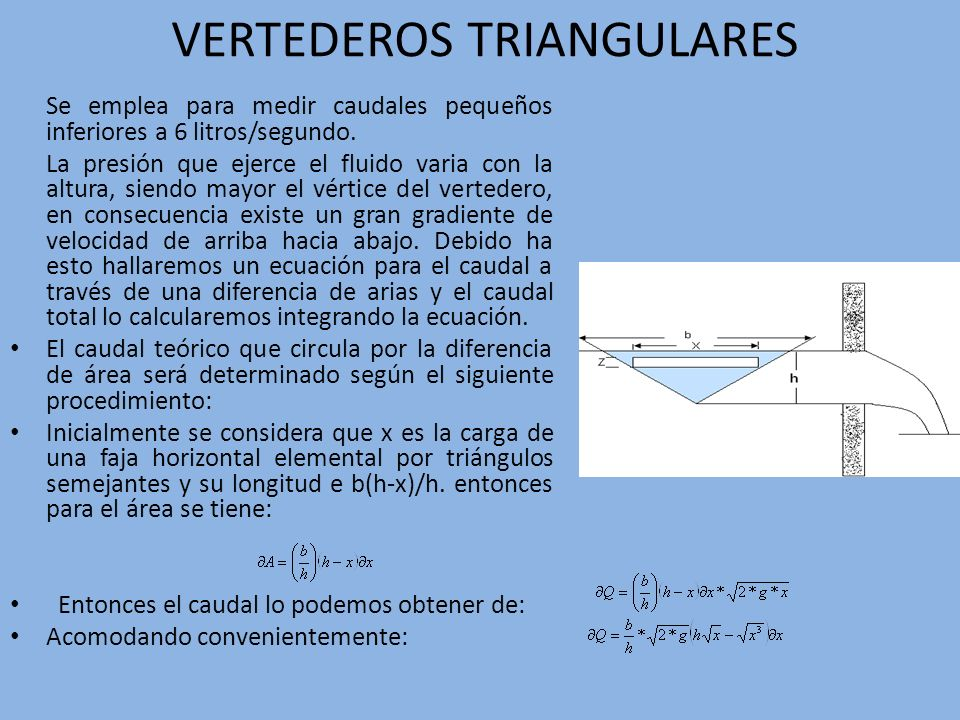 VERTEDEROS TRIANGULARES