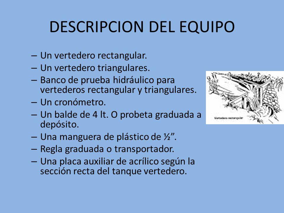 DESCRIPCION DEL EQUIPO